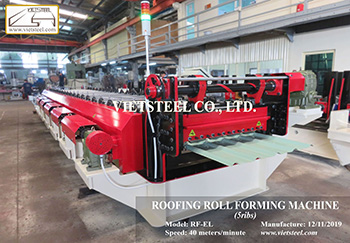 Step tile roll forming machine – New Minimalist profile
