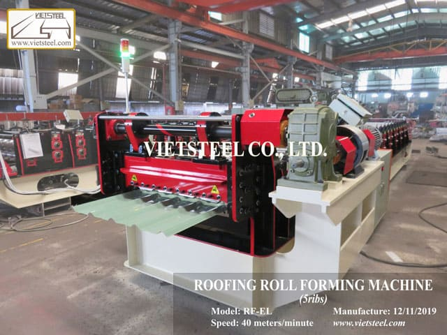 Roofing Roll Forming Machine - 5 ribs (RF-EL Model)