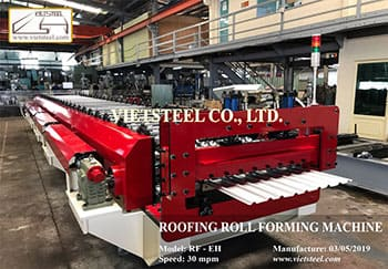 Roofing Roll Forming Machine – 9 Ribs (EH Model – 30mpm)