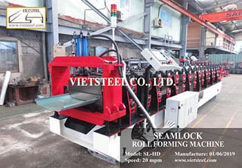 Seamlock Roll Forming Machine for Vietnam customer.
