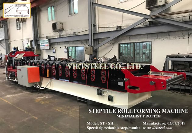 Step tile roll forming machine – Minimalist profile