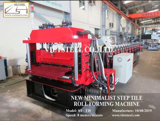 Step tile roll forming machine - New Minimalist profile