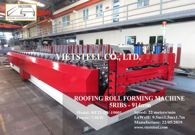Roofing roll forming machine (5-ribs profile)