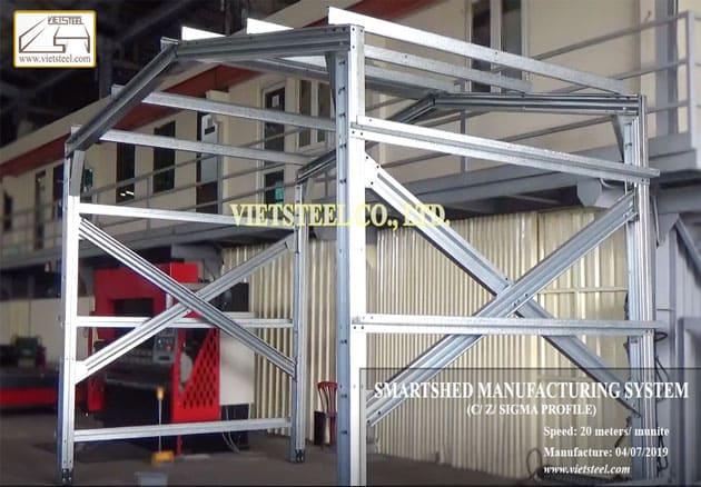 Smartshed manufacturing system - Australia technology vietsteel machine