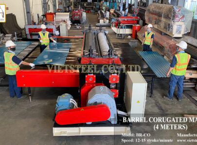 """Vietsteel has successfully exported """"steel warrior – barrel roll forming machine"""" to Colombian customers in August 2020"""