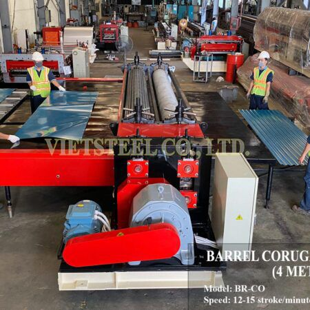 "Vietsteel has successfully exported ""steel warrior – barrel roll forming machine"" to Colombian customers in August 2020"
