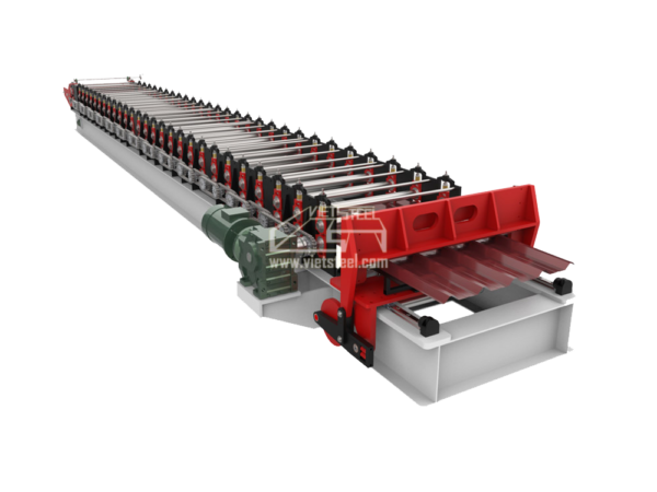 Vietsteel Roofing Roll Forming machine Rotary cut