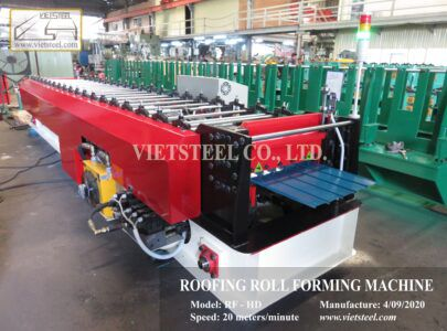 Exporting 2 Side panel roll forming machines and Roofing roll forming machine line.