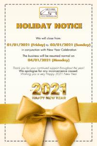 Vietsteel Holiday notice [New year 2021]