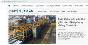 Vietsteel xuất khẩu máy cán tôn