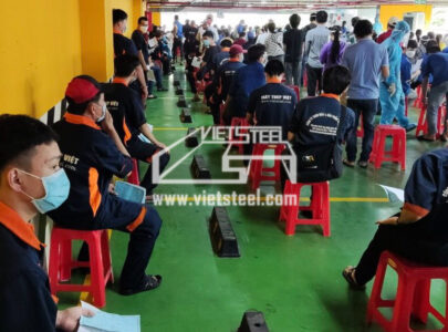 All employees of Vietsteel have completed the second vaccination