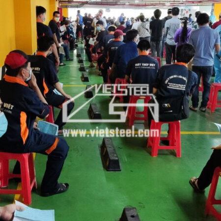 Máy Thép Việt đã hoàn thành mũi tiêm Vaccine thứ 2 ngừa Covid-19